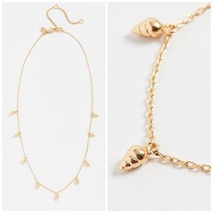 Madewell Teensy Shell Necklace NWT